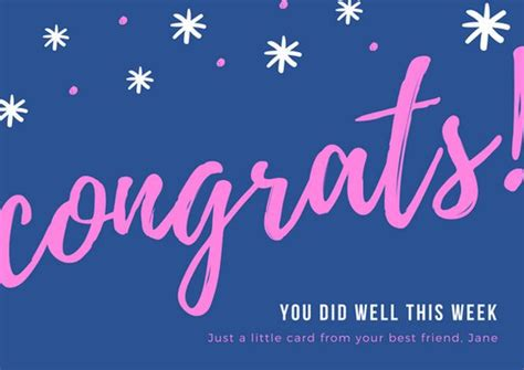 Congrats Text Gift Card - customize 201 congratulations card templates online canva