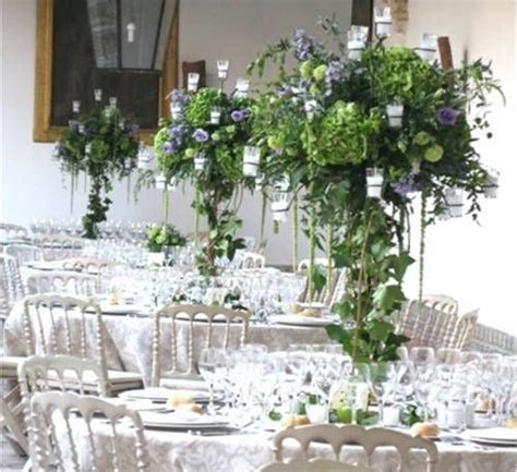 floreros de mesa para boda centros de mesa para boda altos
