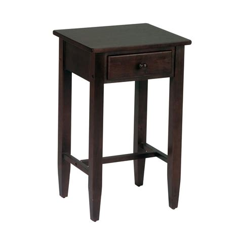 home depot side table ospdesigns espresso storage side table es04 the home depot