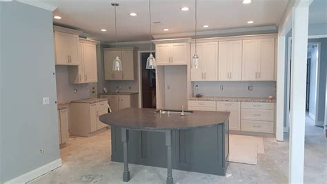 shop kitchen cabinets shaker dove cabinetry w grey island the cabinet guy store