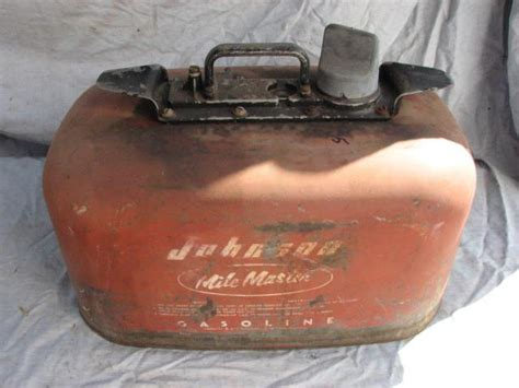 outboard boat motor gas tank find vintage evinrude outboard motor 6 gallon cruise a day