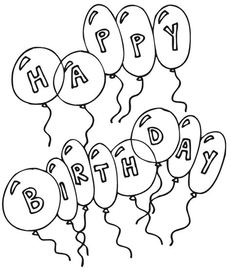 color for happy happy birthday coloring pages free printable pictures