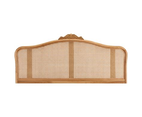 Solid Oak Headboard by Grace Solid Oak Rattan Headboard