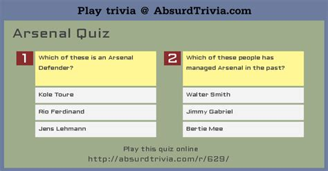 arsenal quiz arsenal quiz