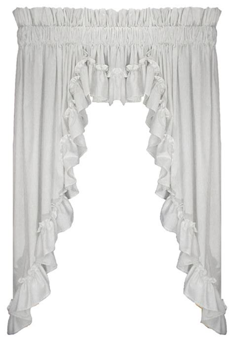 curtains 54 inches long stephanie 54 inch long 3 piece swags and filler valance