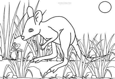 baby kangaroo coloring pages coloring picture of kangaroo baby coloring pages
