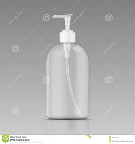 clean liquid soap bottle template royalty free stock