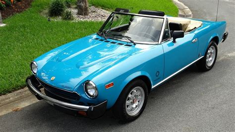 fiat spider convertible top 1982 fiat spider 2000 turbo convertible for sale