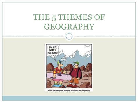 themes of geography list the 5 themes of geography