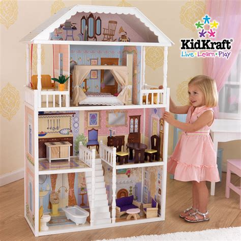 house for dolls brand new girls large doll house pretend play dollhouse toy fits barbie dolls ebay