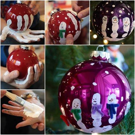 wonderful diy cute handprint ornaments