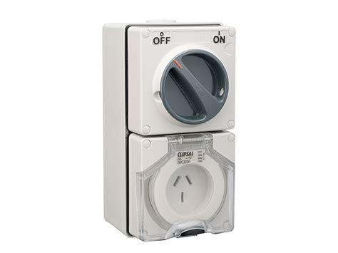 clipsal 56c320f switched socket outlet 250v 20a 3