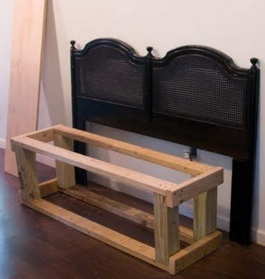 bench out of headboard tutorial on how to make a bench out of a headboard