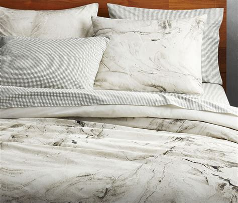 marble bed sheets how it s made marble duvet cover cb2 blog