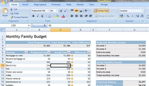 Setting Up A Budget Spreadsheet by Setting Up Your Family Budget