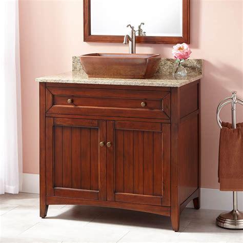 bathroom cabinet home interior items catalogs catalog adelina 36 inch vessel sink bathroom vanity medium brown