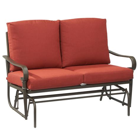 metal glider sofa metal glider sofa powdercoated red vintage metal patio