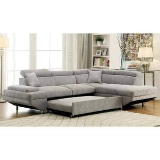 leather sectional sofa with pull out bed furniture of america sectional sofa w pull out bed sleeper