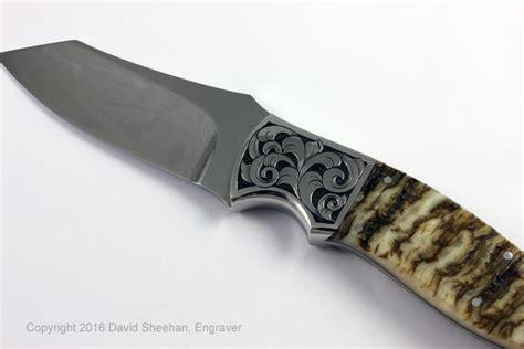 custom engraved knives engraved custom knives david sheehan engraver