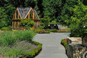 Pool Maintenance greenhouse pavilion koi pond and stone driveway