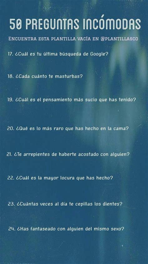 preguntas graciosas incomodas 50 preguntas inc 243 modas cosas cursis pinterest