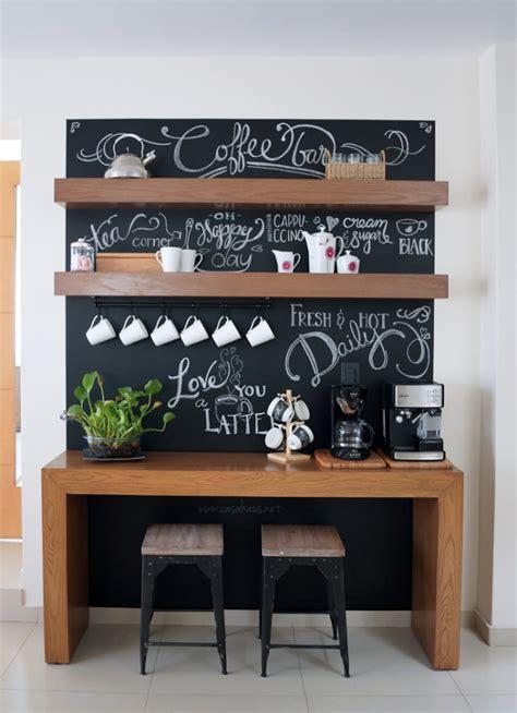 Chalkboard Kitchen Backsplash by Antes Y Despu 233 S Coffee Bar Un Rinc 243 N Para El Caf 233