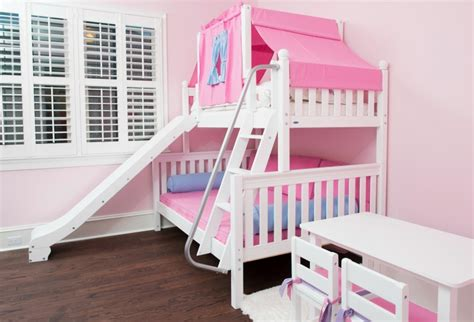girl bunk beds with slide slide beds shop top selling bunks lofts with slides