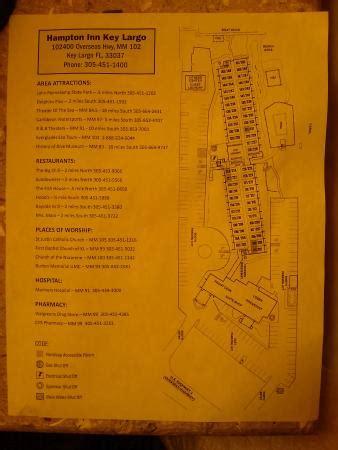 hotel floor plan picture of hampton inn key largo, key