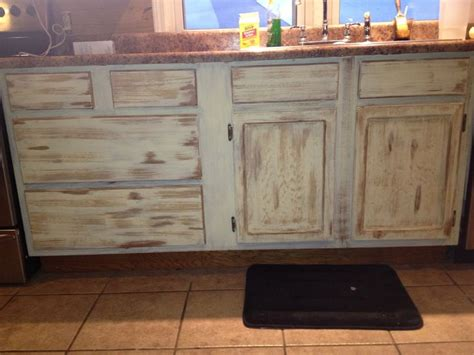 distressed kitchen cabinets diy distressed