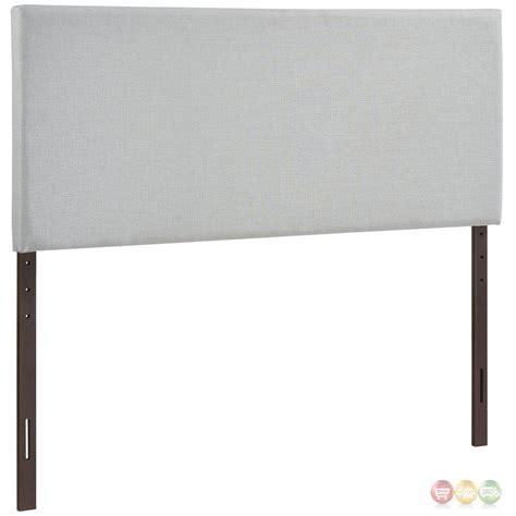 Bassett Furniture 5211 by Region Modern Plain Upholstered Headboard Sky Gray