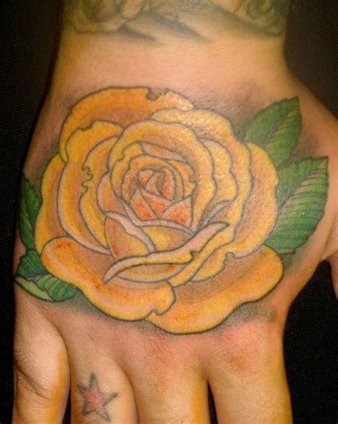 1887tattoos yellow rose tattoos