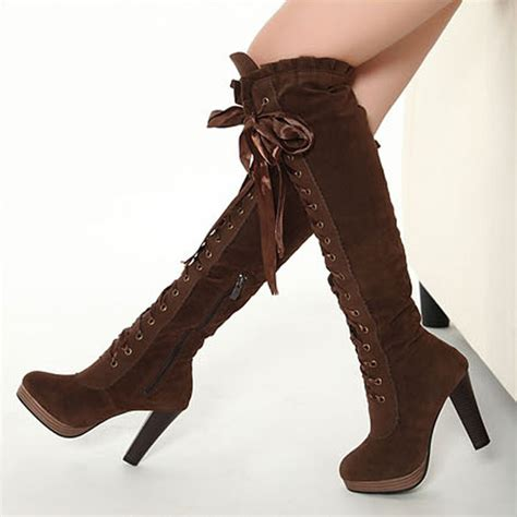 boots boots cross straps knee high boots thigh