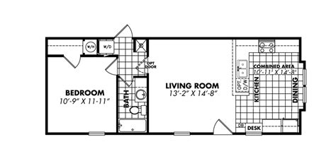 mobile home dimensions less 1644 11 sfkb 1 bedroom single wide legacy tiny