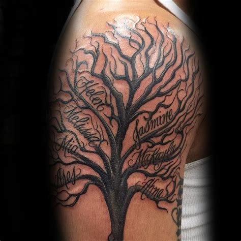 arm tattoo family tree 60 family tree tattoo designs for men kinship ink ideas