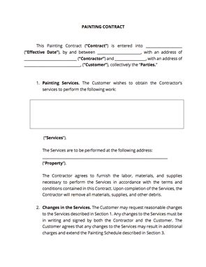 Painting Contract Template Docsketch Painting Subcontractor Agreement Template