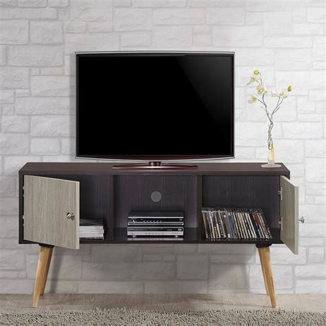 hodedah retro style entertainment cabinet media
