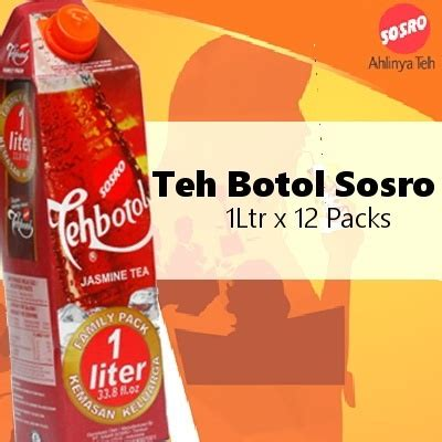 Teh Botol Sosro 1 Botol qoo10 teh botol sosro 1 ltrx12 packs 250 tetra pack 500ml bottle 500ml drinks