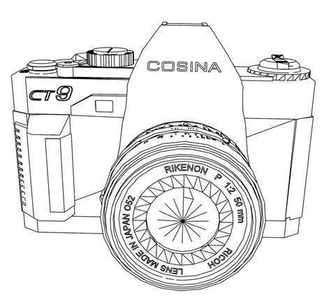 camera coloring page az coloring pages