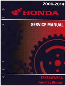 Honda Rincon 680 Service Manual 2006 2014 Honda Rincon Trx680 Service Manual