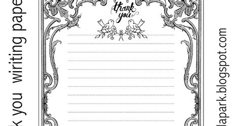 Thank You Letter Paper Free Printable Thank You Writing Paper Ausruckbares Briefpapier Freebie Meinlilapark
