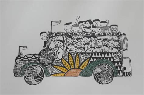 jeepney philippines drawing philippines philippinejeepneys jeepneyart jeepneys