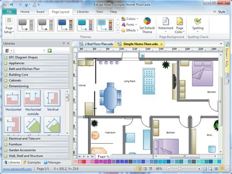 free home layout software house floor plan software free download house plan design