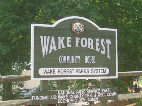 wake forest community house wake forest nc parks holding park
