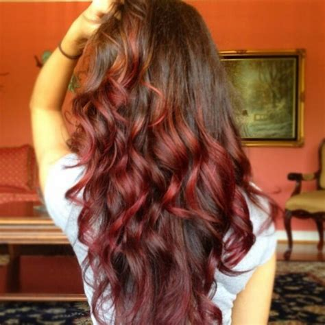 how to dye tips of hair with red kool aid for black hair brown hair red tips hair color pinterest