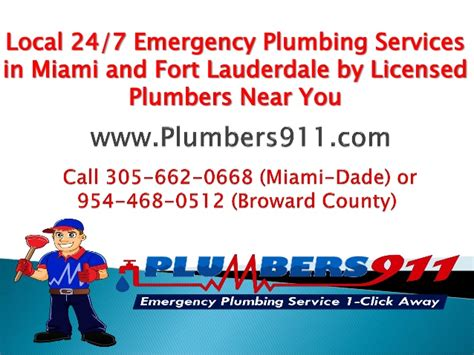 Emergency Plumbing Miami by Local 24 7 Emergency Plumbing Services In Miami And Fort