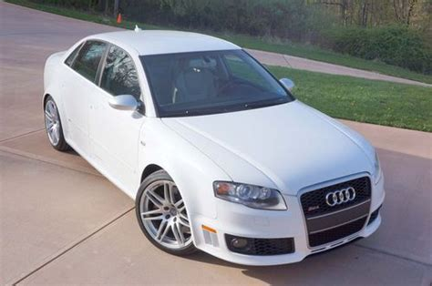 automotive repair manual 2007 audi rs 4 auto manual find used used 2007 audi rs4 420hp 4 2l fsi 6 speed manual rare white interior in