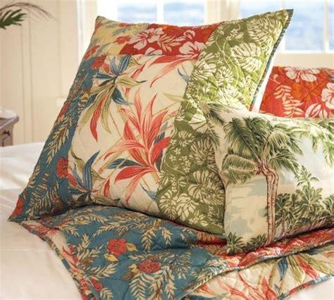 hawaiian pattern comforters the pottery barn beach palm patchwork quilt sham sun