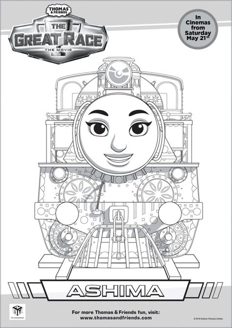 thomas birthday coloring pages thomas friends the great race colouring pages in the