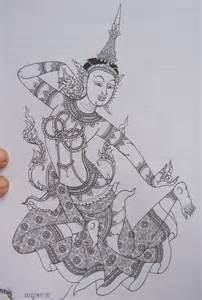 thai warrior tattoo flash 7 jpg 171 black and white 171 flash