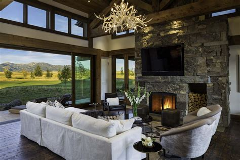 mountain home interior design family retreat blends modern rustic with rocky mountain views